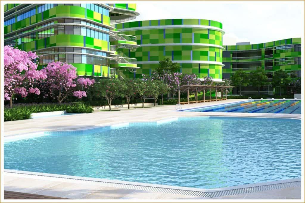 Hồ bơi khu đô thị sinh thái Sala