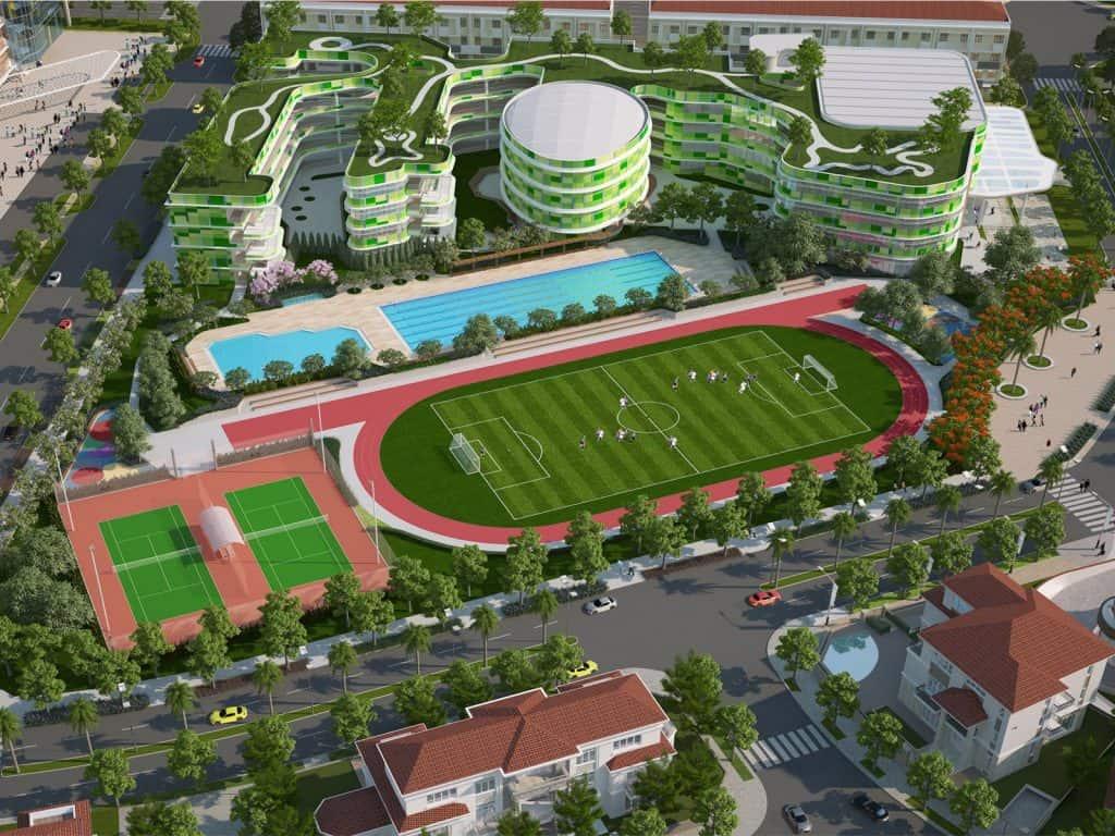 Sân vận động khu đô thị sinh thái Sala