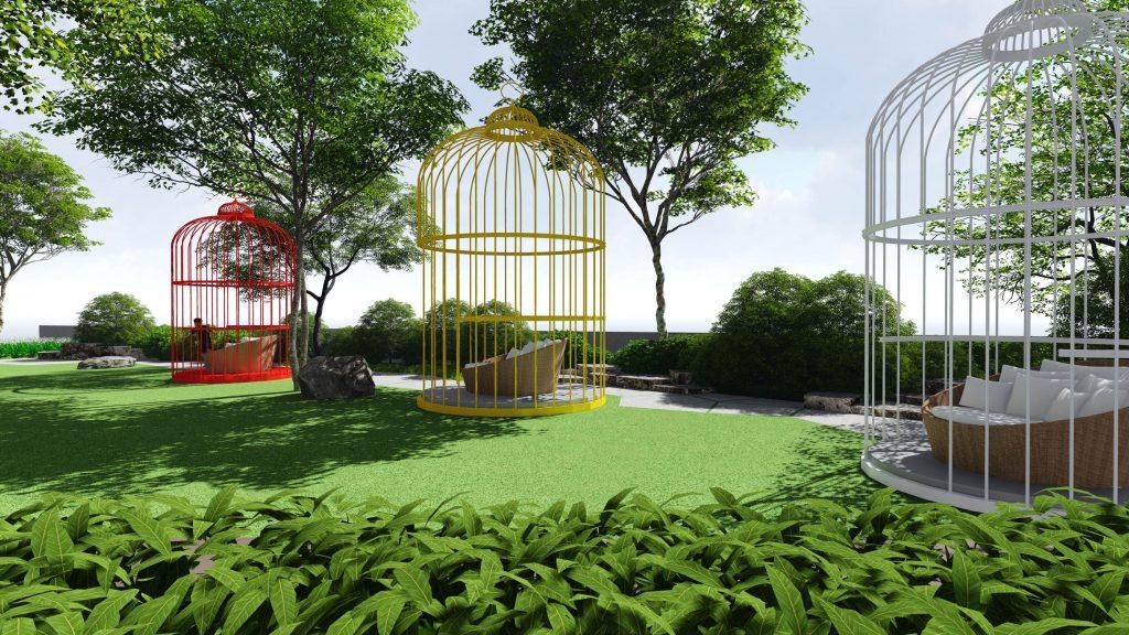 caged pavilion