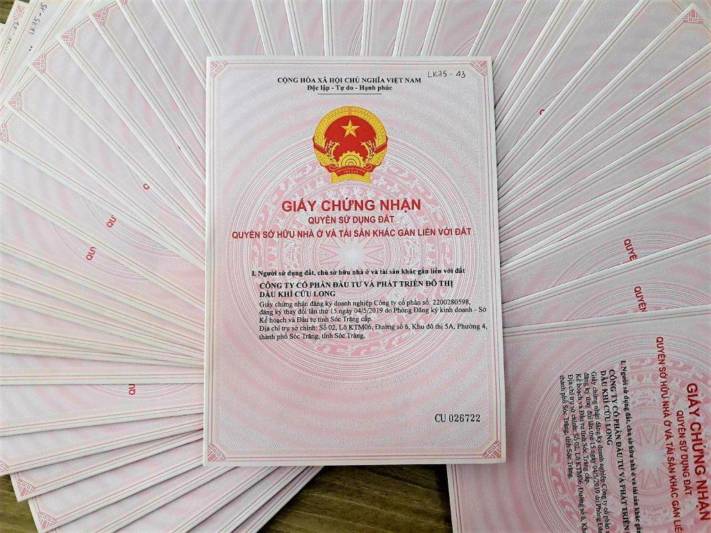 Hơn 200 sổ hồng của Khu phố thương mại Kim Ngân Gia đã được cấp và sẵn sàng để bàn giao cho khách hàng khi nhận nhà