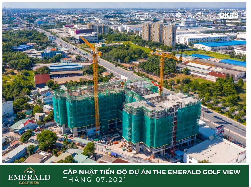 Tiến độ dự án The Emerald Golf View tháng 7, 2021