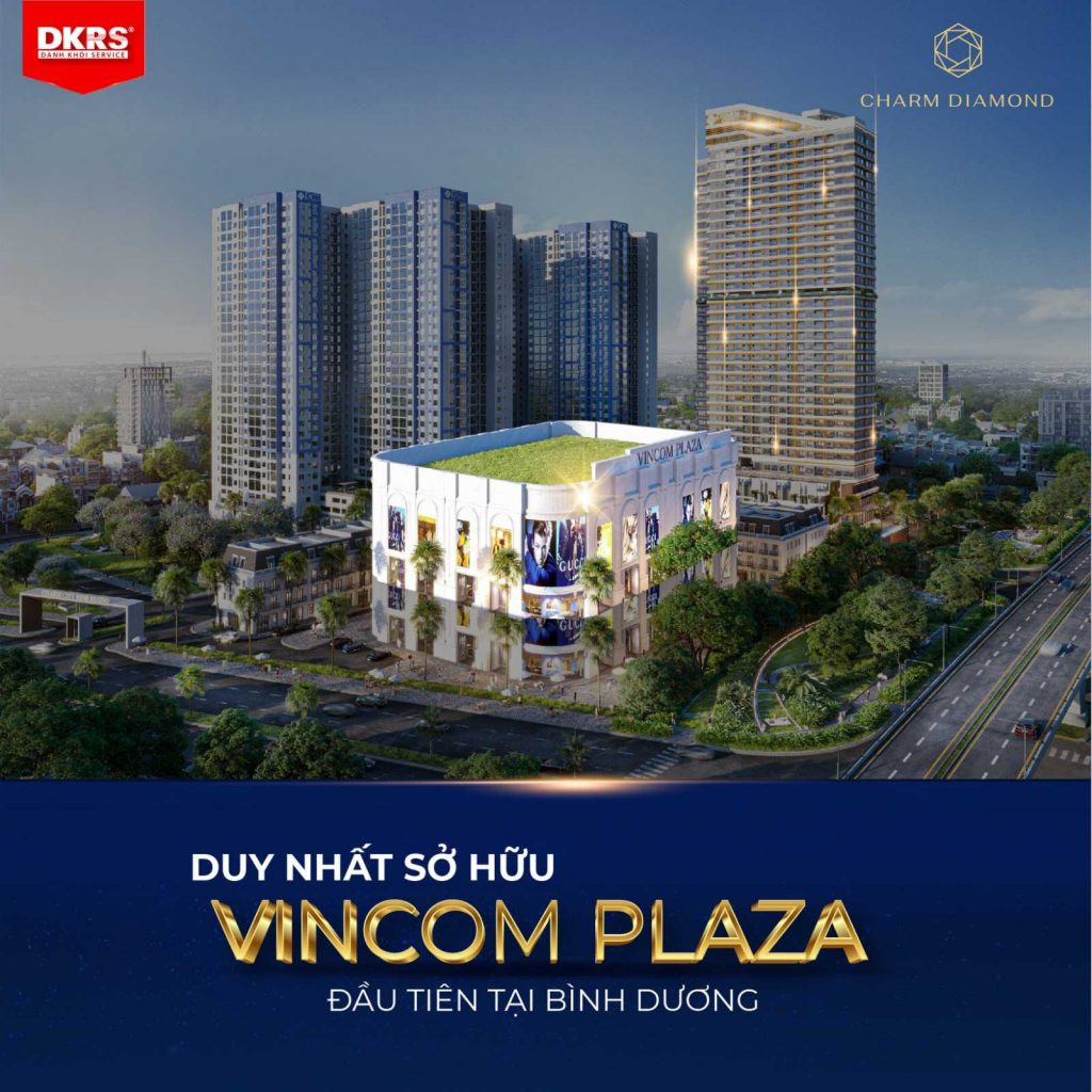 Charm Diamond sở hữu Vincom Plaza trong lòng dự án