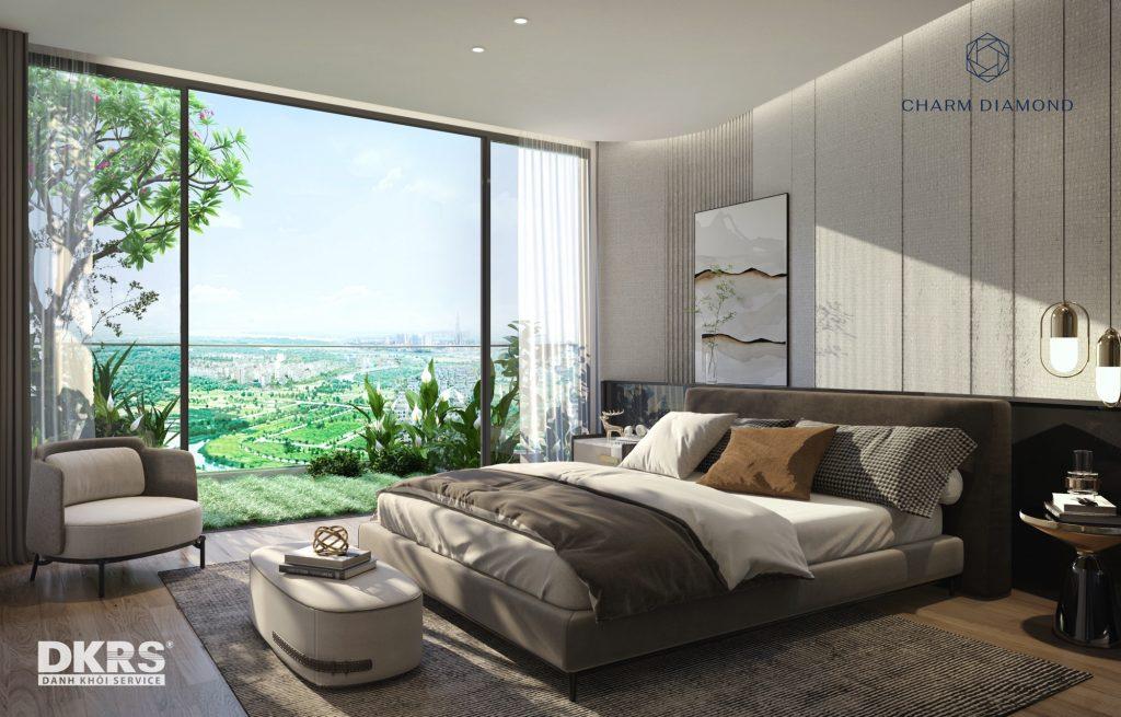 Nội thất căn hộ dự án Charm Diamond