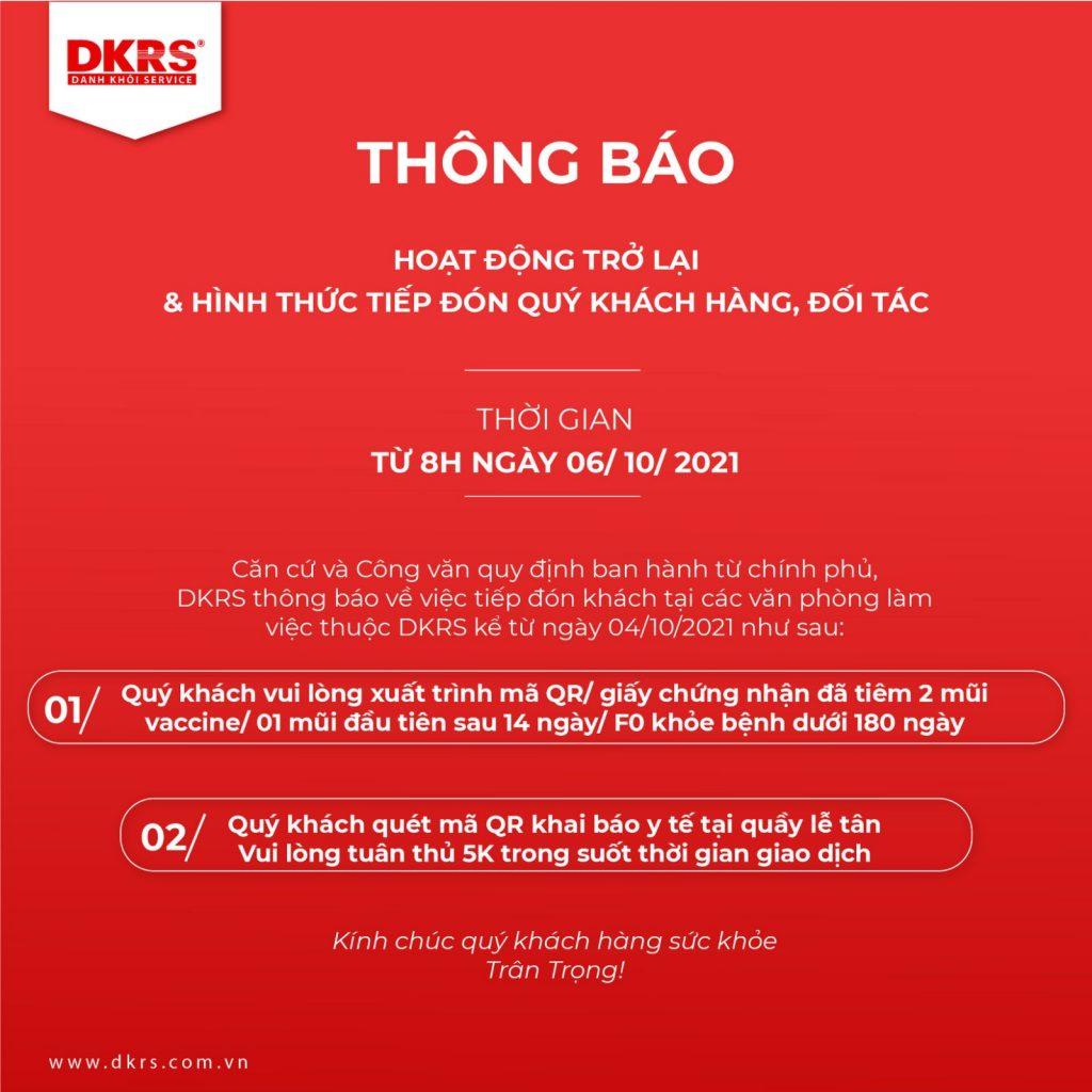 Thông báo làm việc DKRS